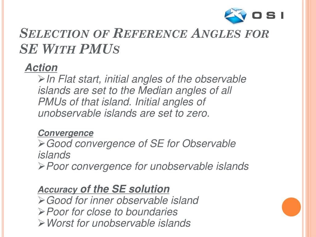 Selection of Reference Angles for SE With PMUs