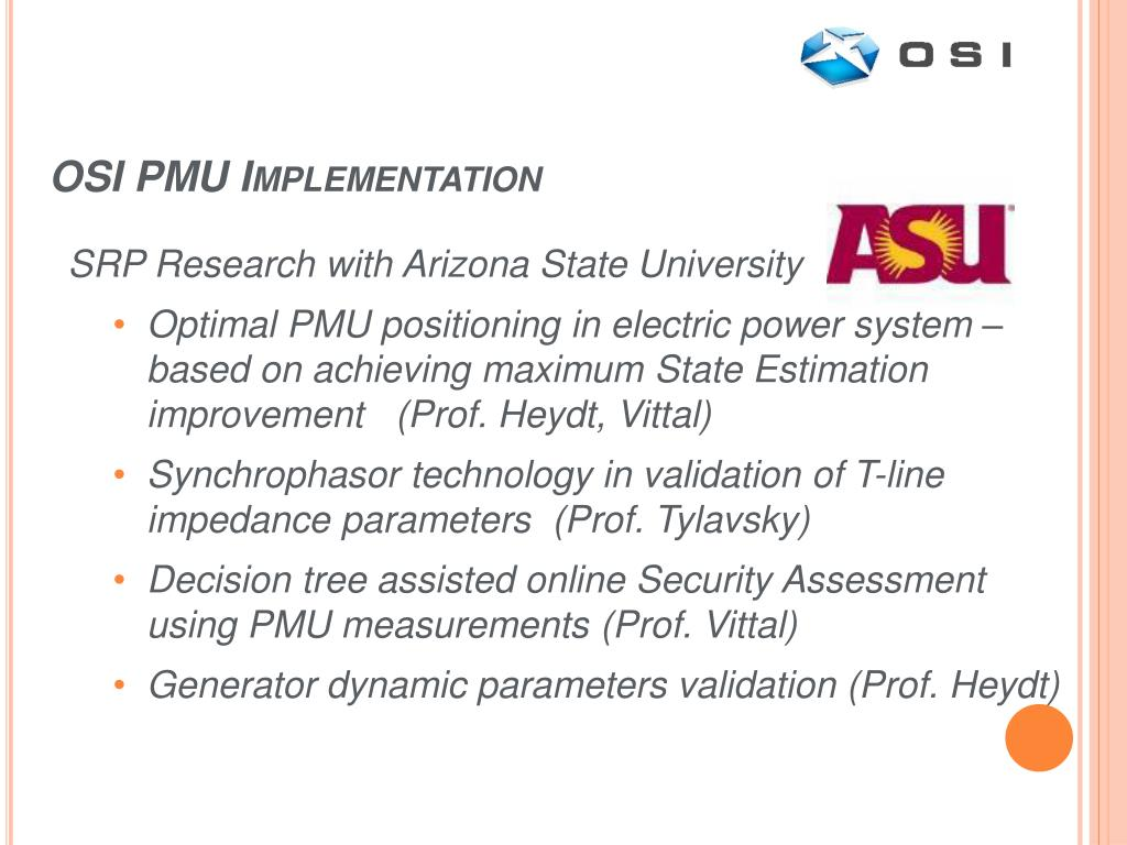 OSI PMU Implementation