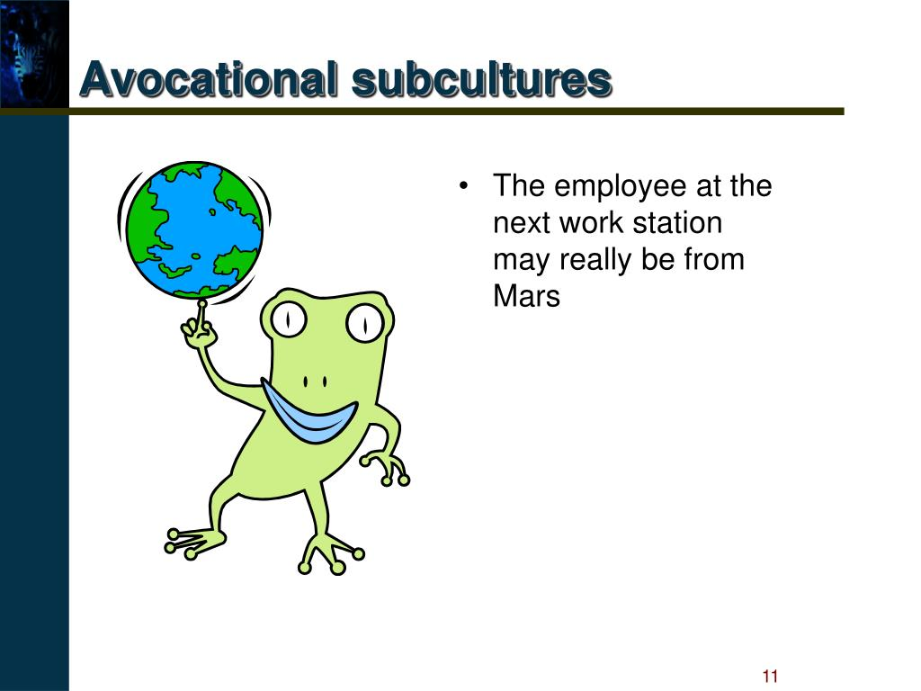 Avocational subcultures