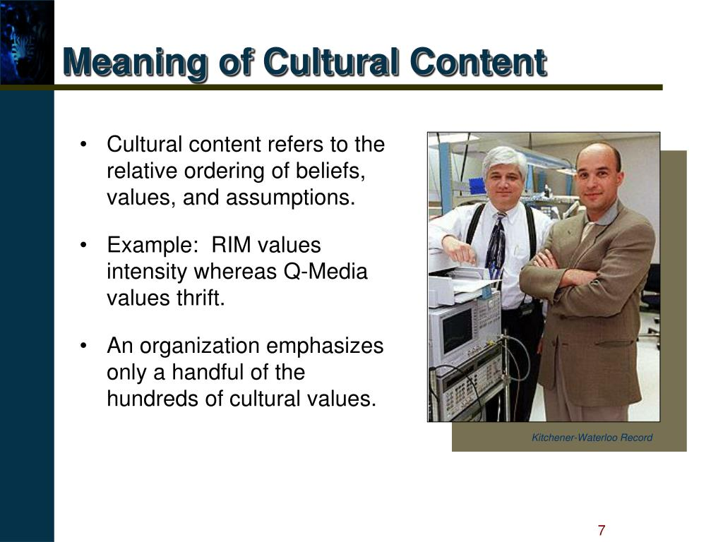 Meaning of Cultural Content