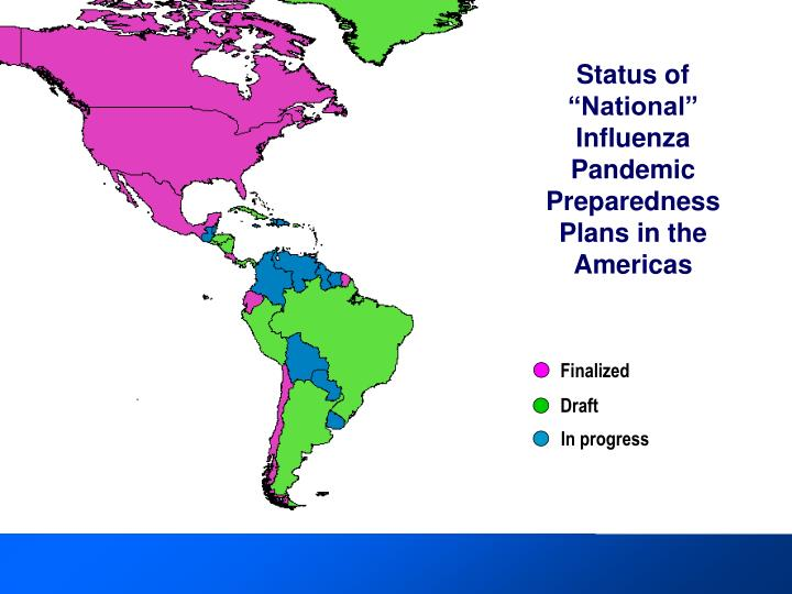 """Status of """"National"""" Influenza Pandemic Preparedness Plans in the Americas"""