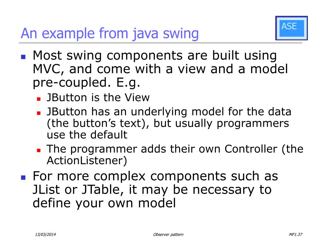 An example from java swing