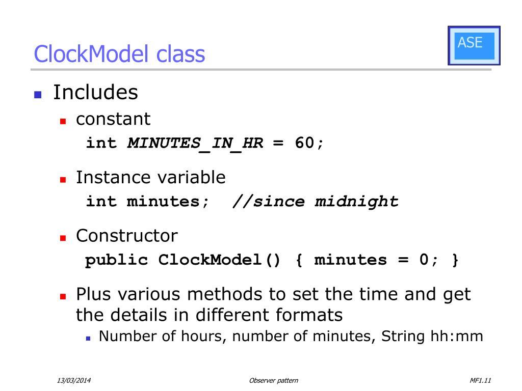 ClockModel class