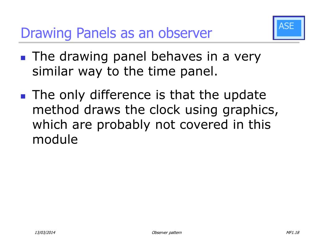 Drawing Panels as an observer