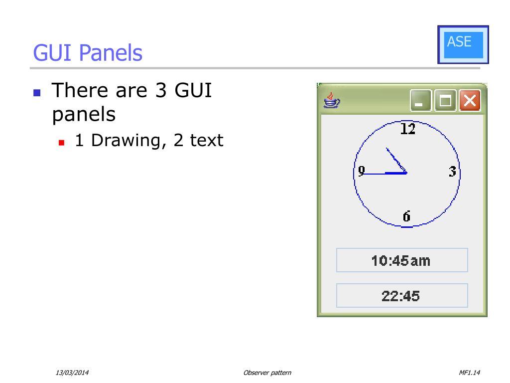 GUI Panels