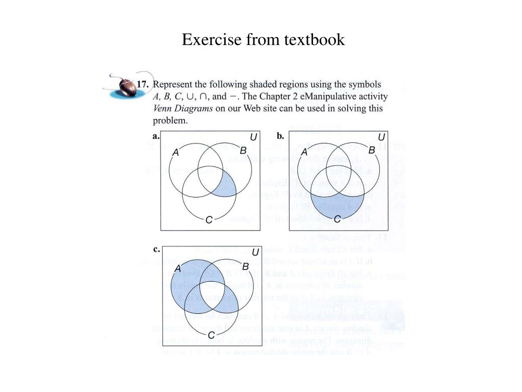 Exercise from textbook