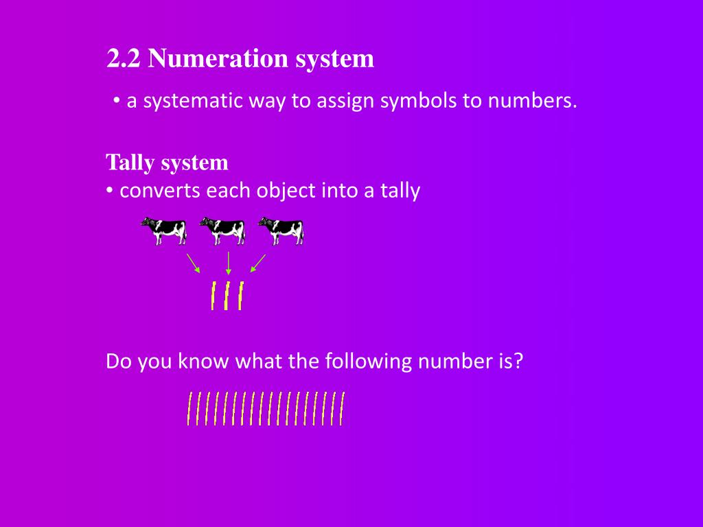 2.2 Numeration system