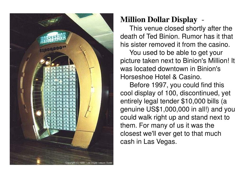 Million Dollar Display