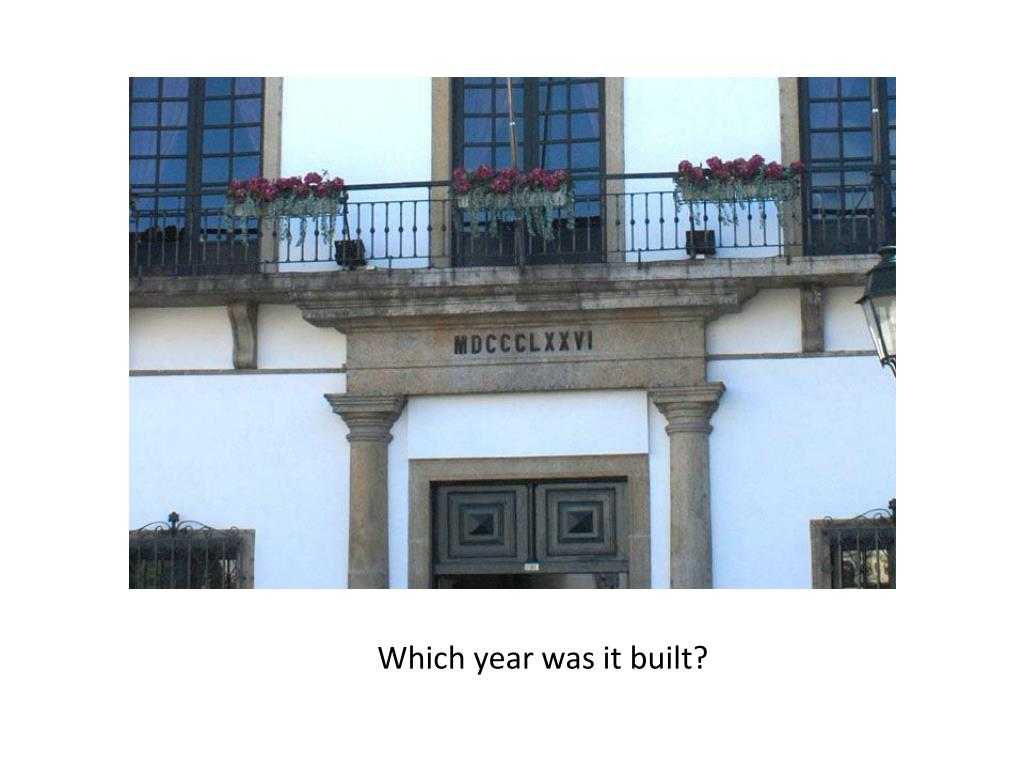 Which year was it built?