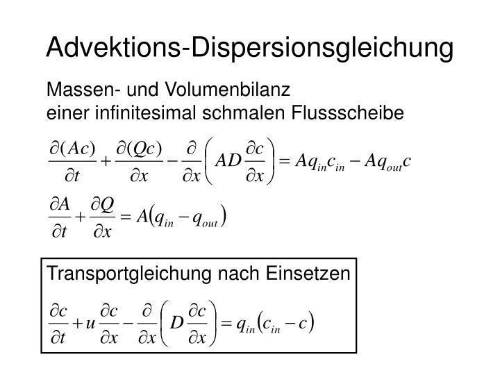 Advektions dispersionsgleichung