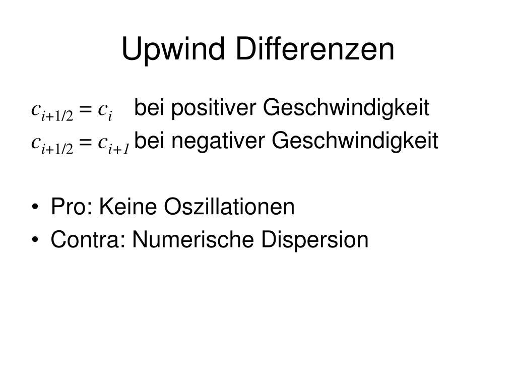 Upwind Differenzen
