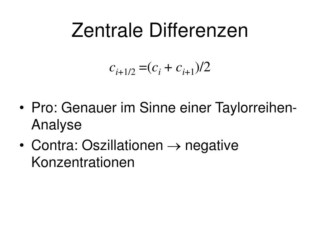 Zentrale Differenzen