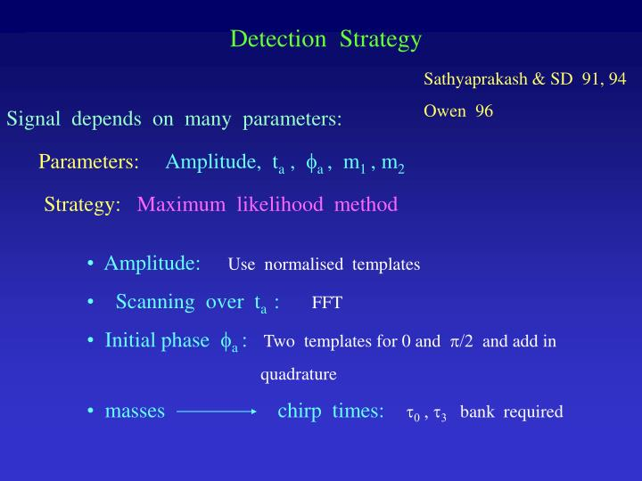 Detection  Strategy