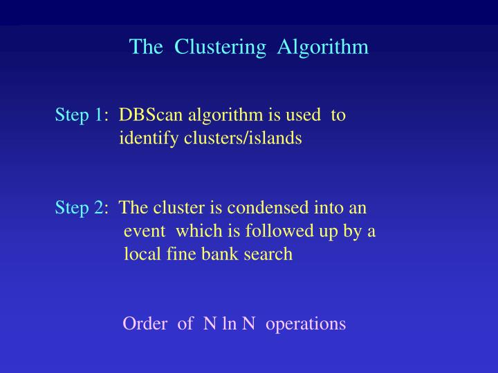 The  Clustering  Algorithm