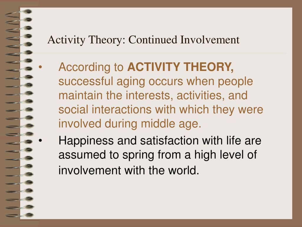 Activity Theory: Continued Involvement