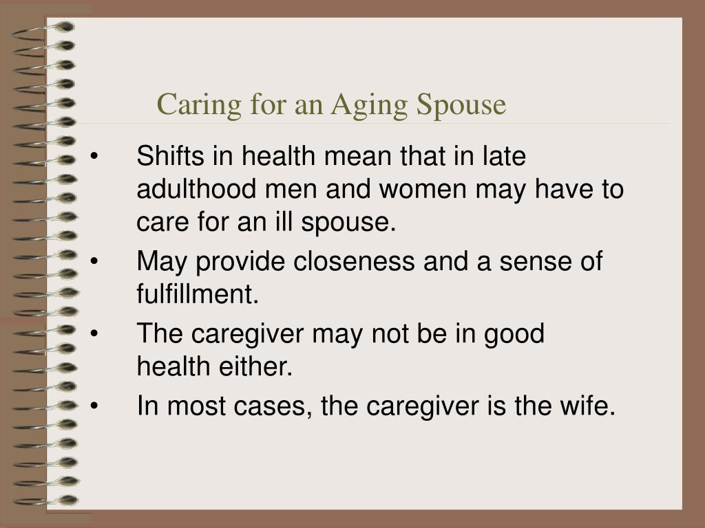 Caring for an Aging Spouse