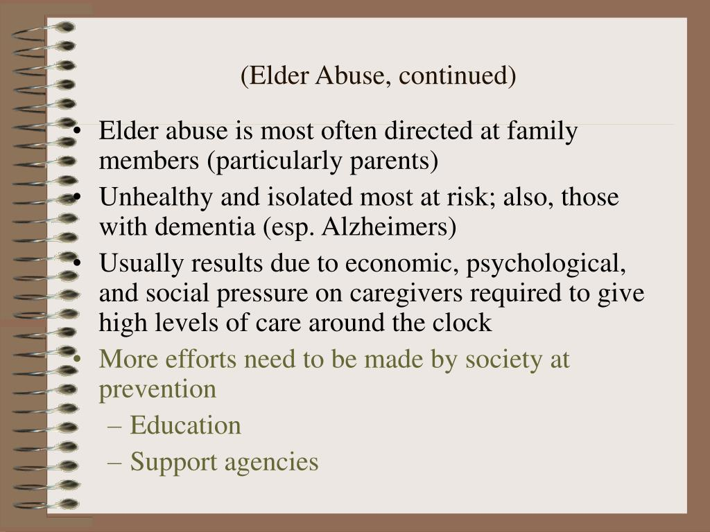 (Elder Abuse, continued)