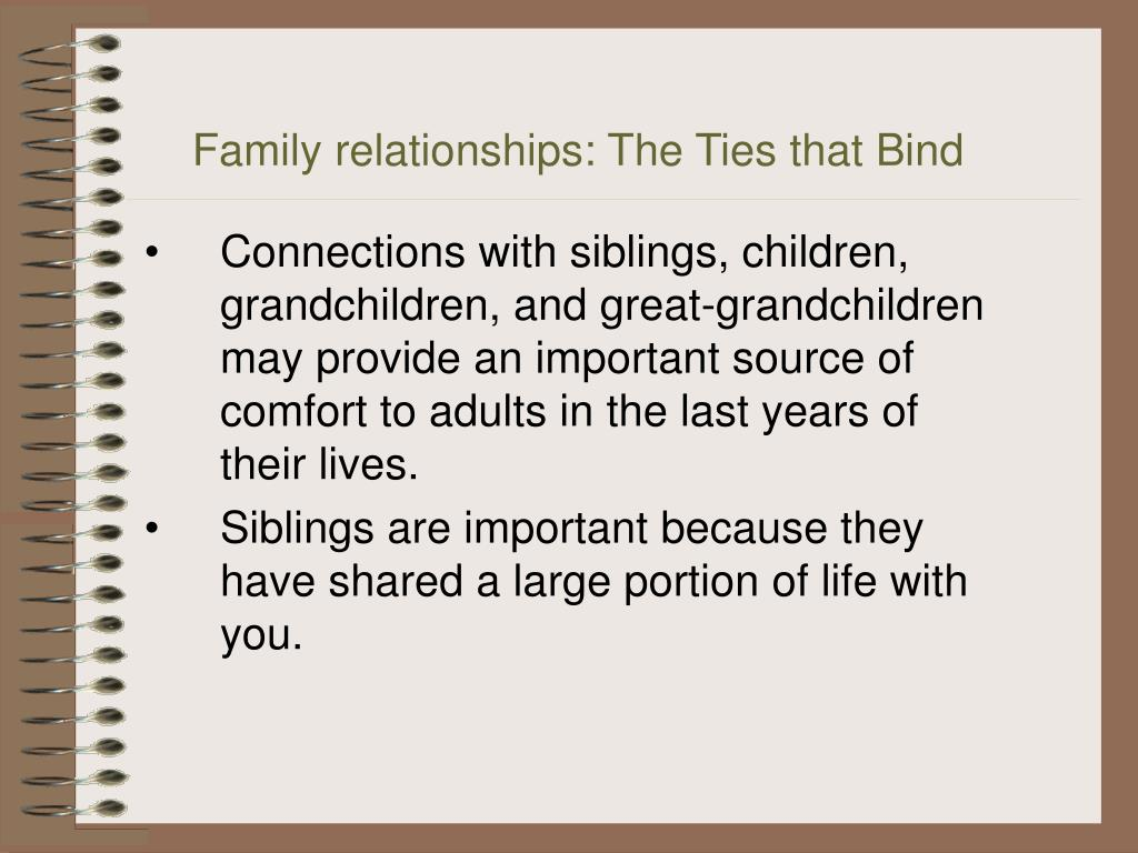 Family relationships: The Ties that Bind