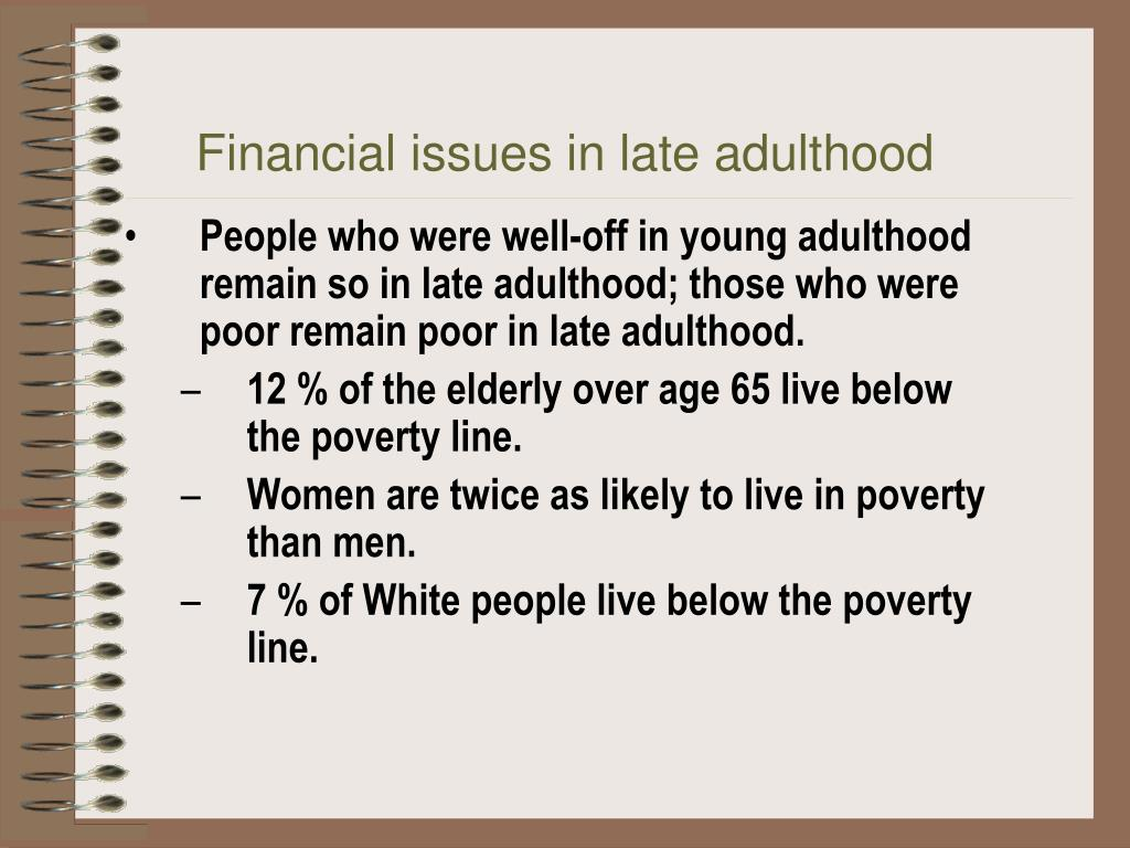Financial issues in late adulthood