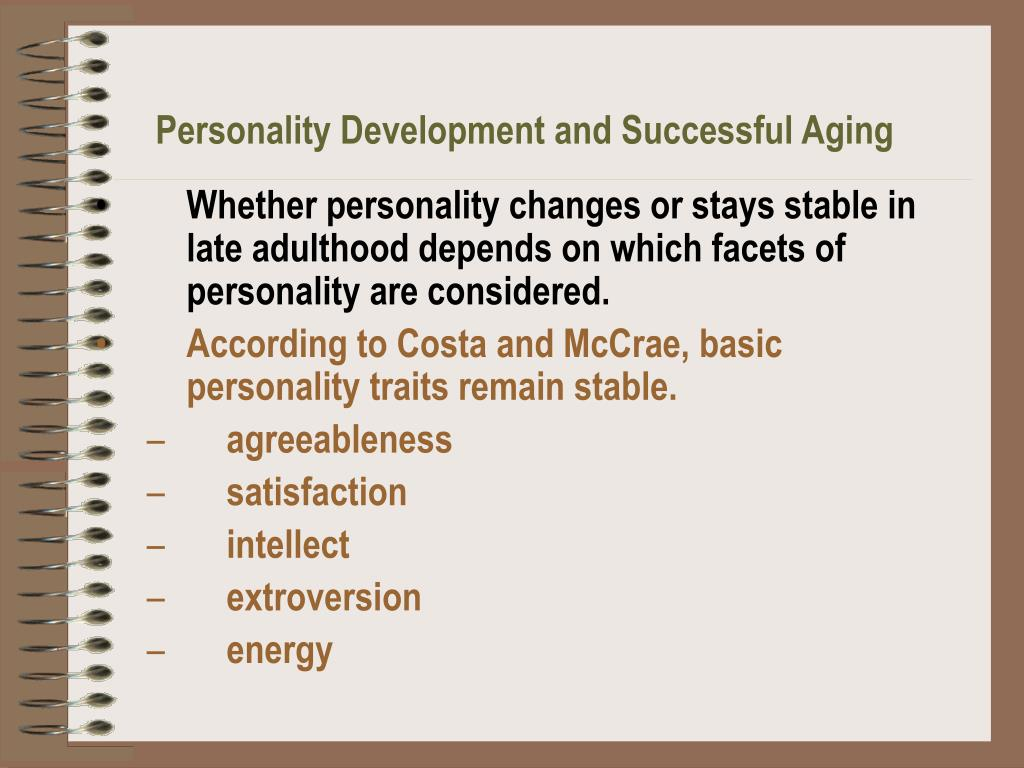 Personality Development and Successful Aging