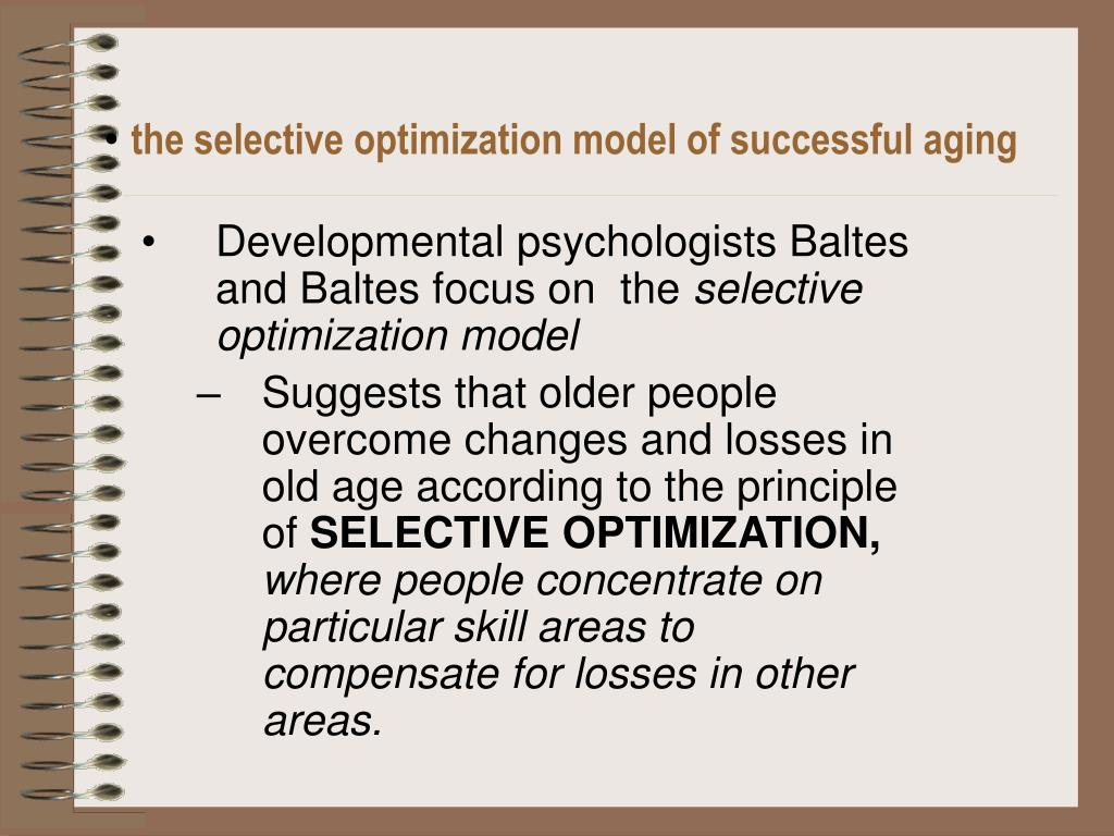 the selective optimization model of successful aging