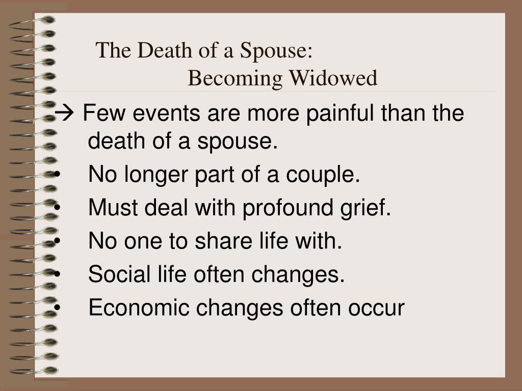 The Death of a Spouse: