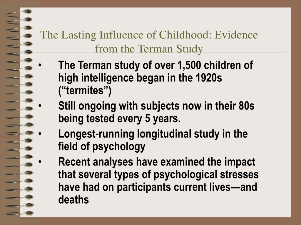 The Lasting Influence of Childhood: Evidence from the Terman Study