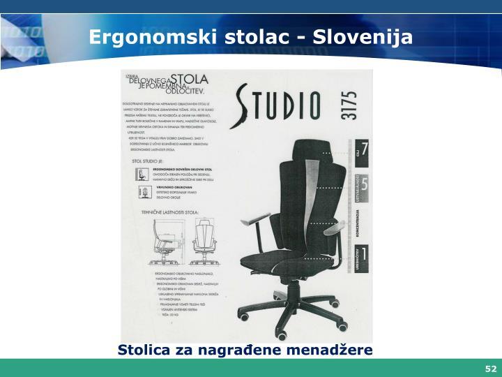 Ergonomski stolac - Slovenija
