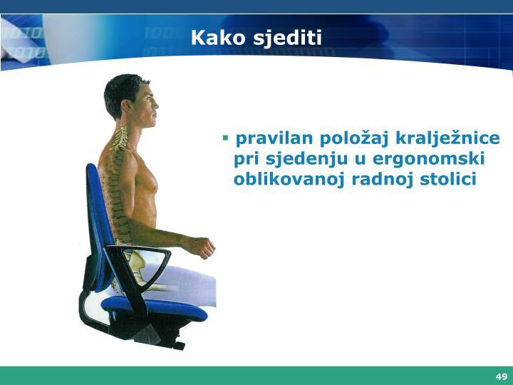 Kako sjediti