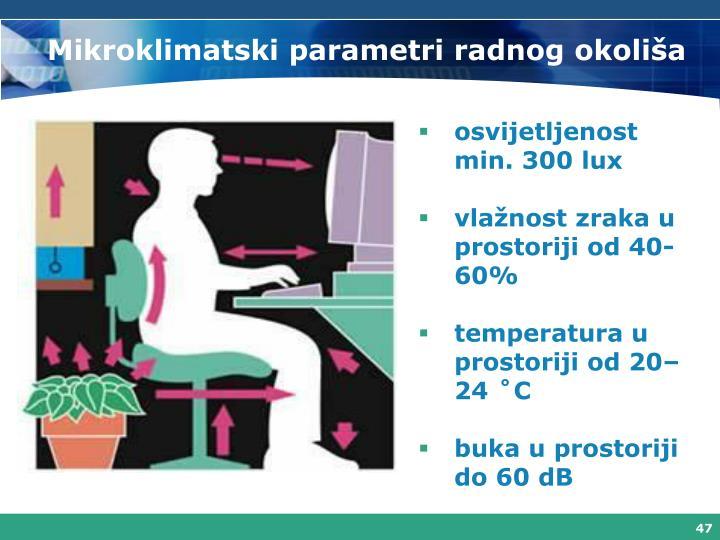 Mikroklimatski parametri radnog okoliša