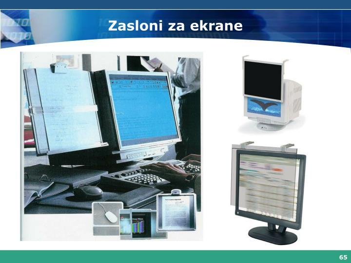 Zasloni za ekrane