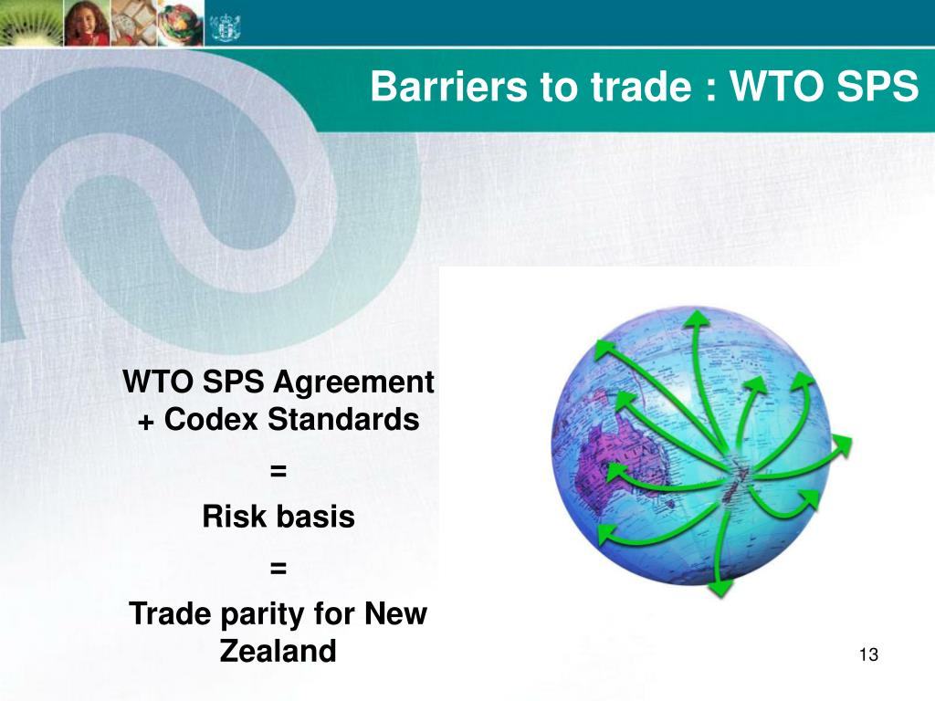 Barriers to trade : WTO SPS