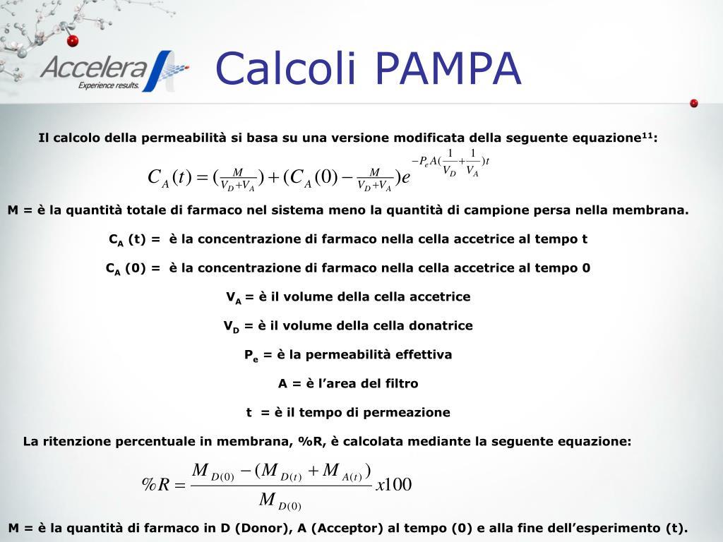 Calcoli PAMPA