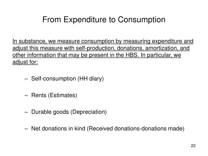 From Expenditure to Consumption