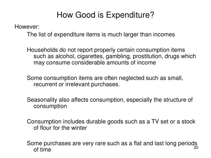 How Good is Expenditure?