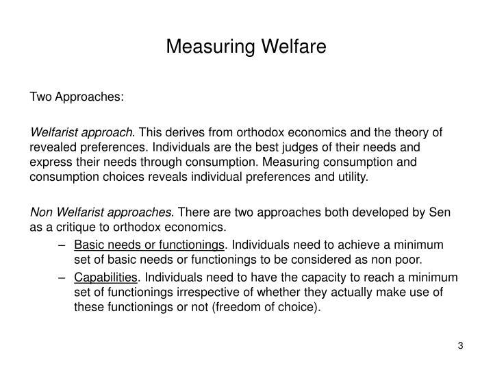 Measuring Welfare
