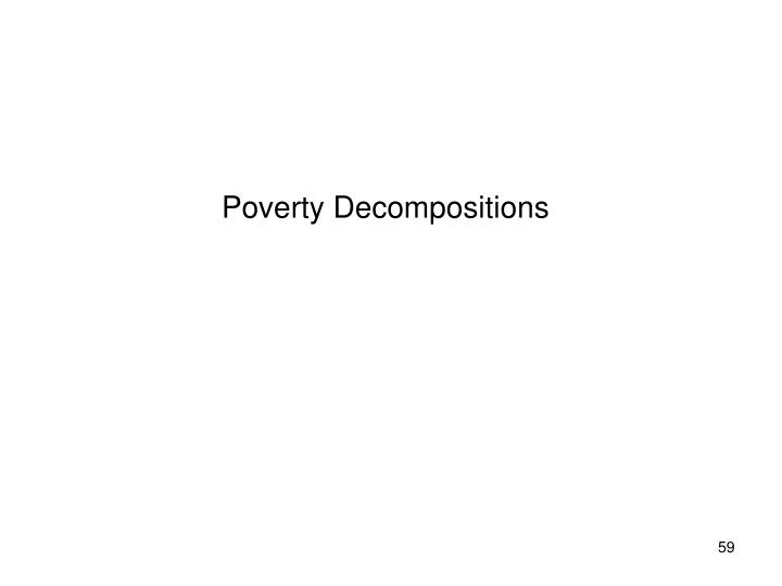 Poverty Decompositions