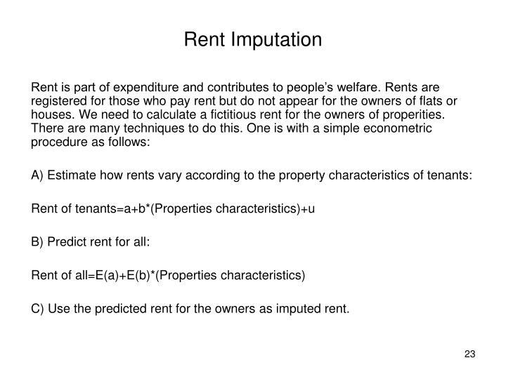 Rent Imputation