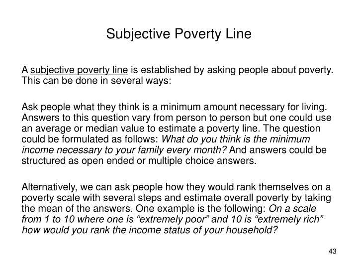 Subjective Poverty Line