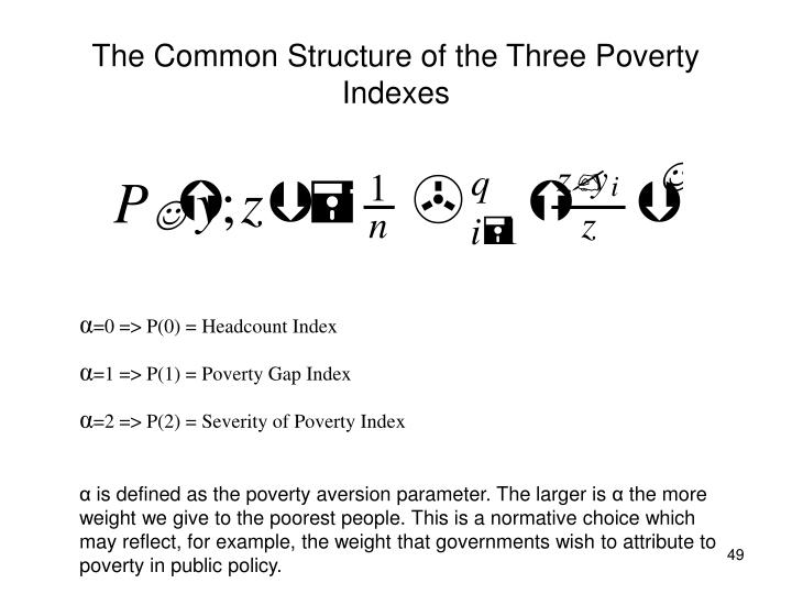 The Common Structure of the Three Poverty Indexes