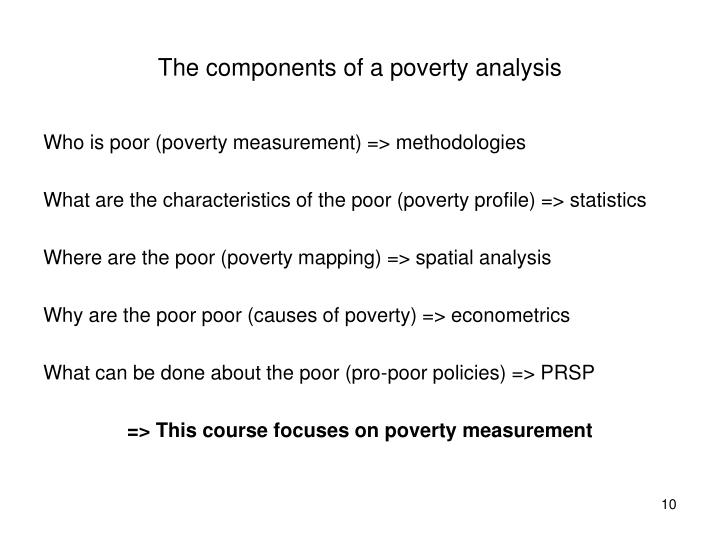 The components of a poverty analysis
