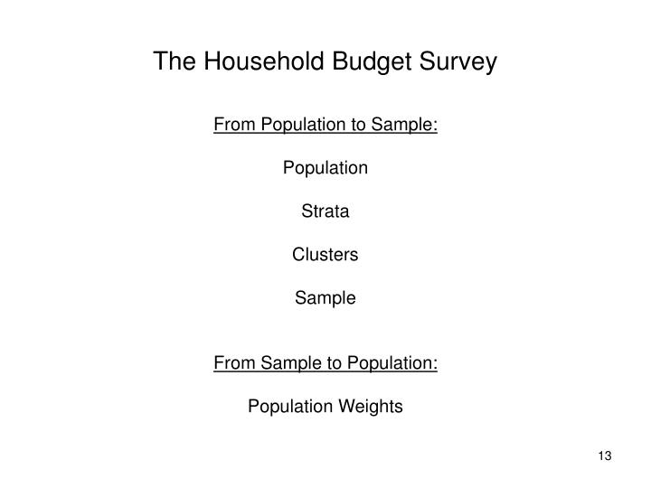 The Household Budget Survey
