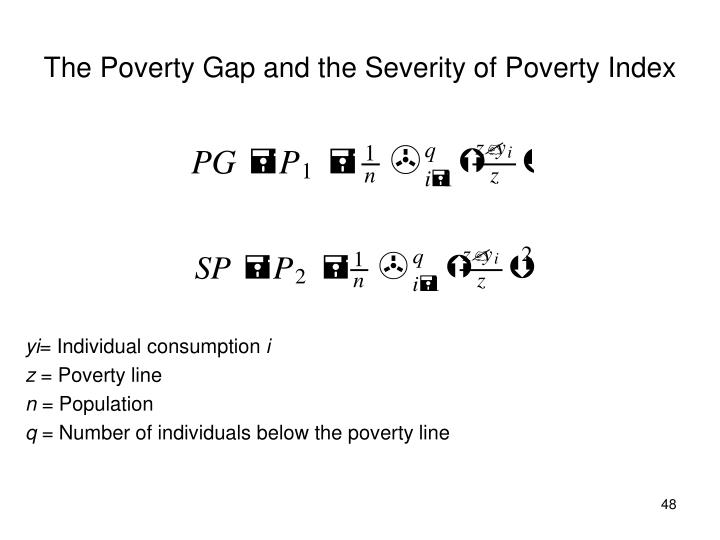 The Poverty Gap and the Severity of Poverty Index