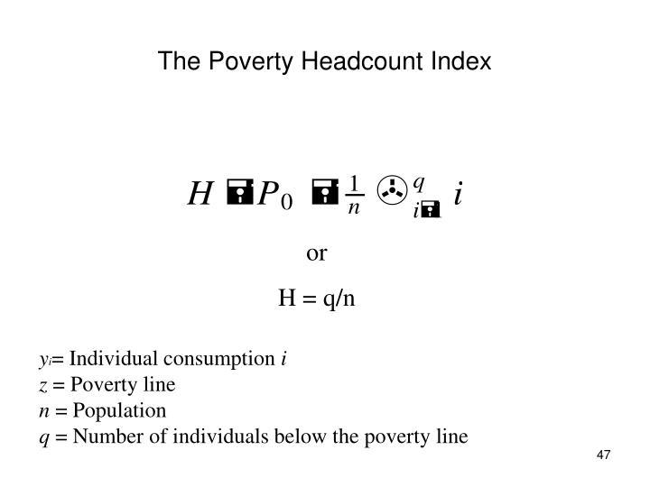 The Poverty Headcount Index
