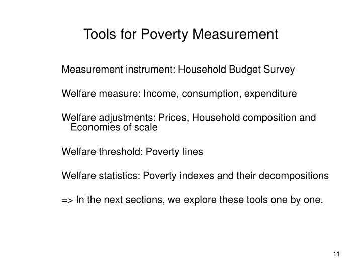 Tools for Poverty Measurement