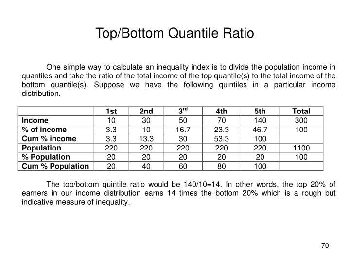 Top/Bottom Quantile Ratio