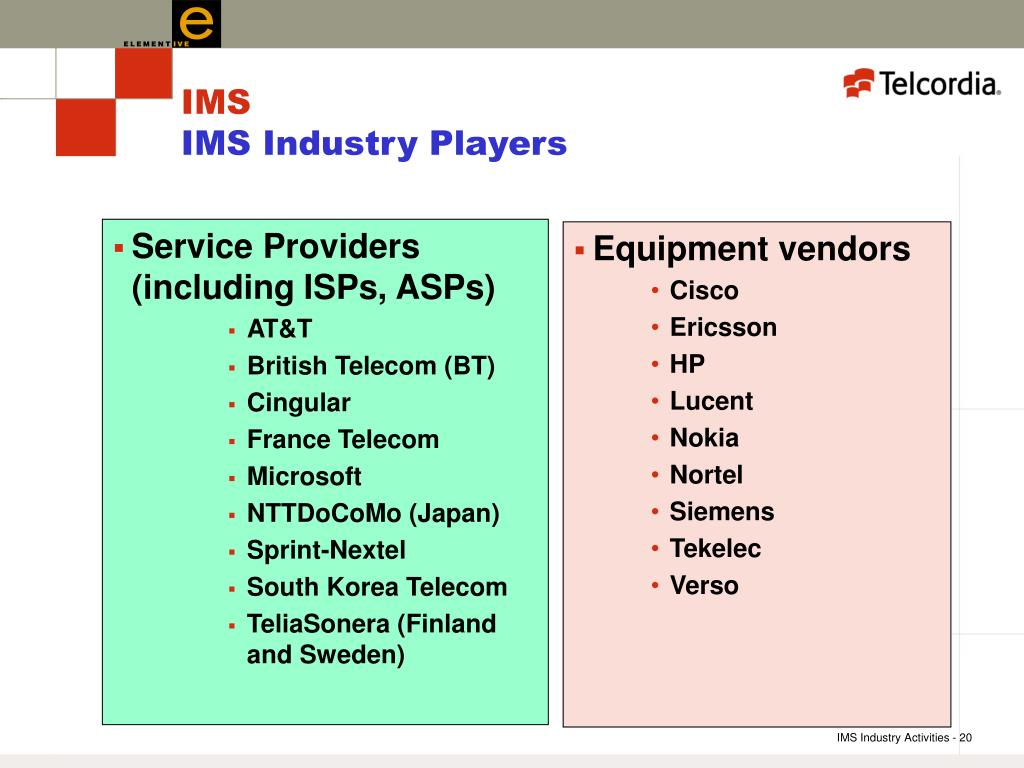Service Providers (including ISPs, ASPs)