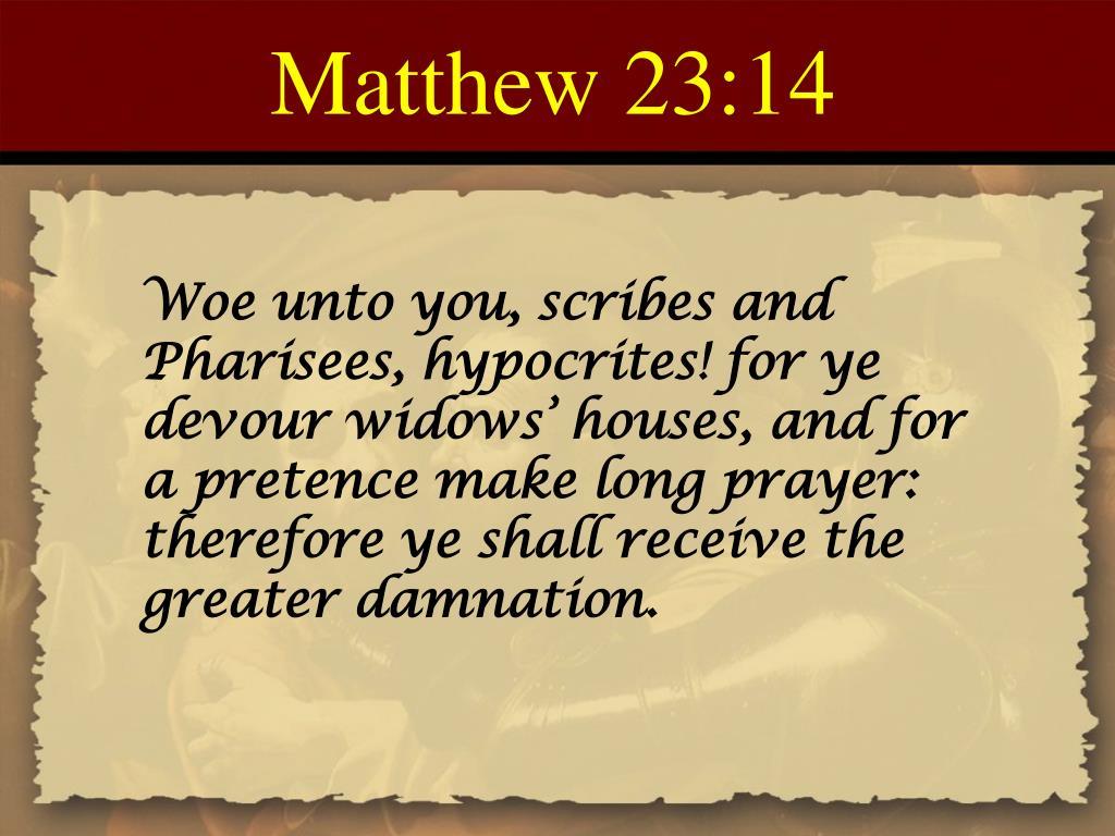 Matthew 23:14