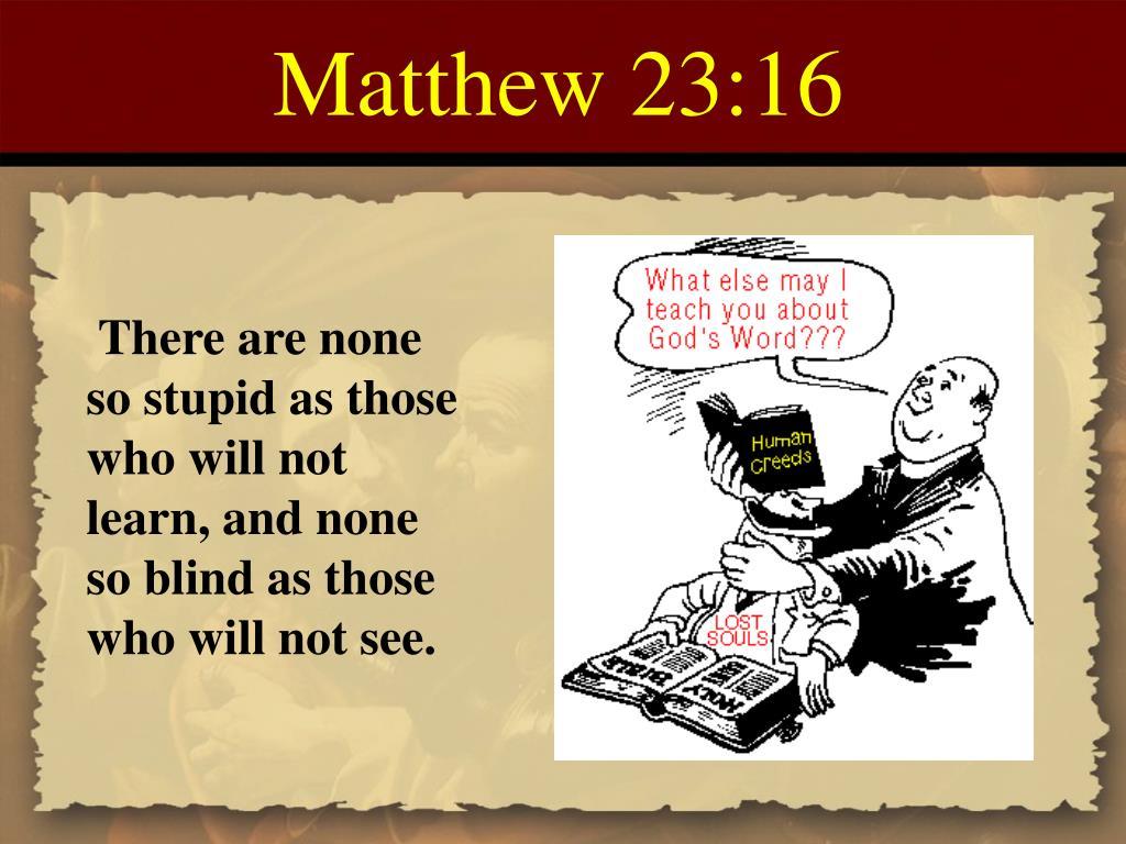 Matthew 23:16