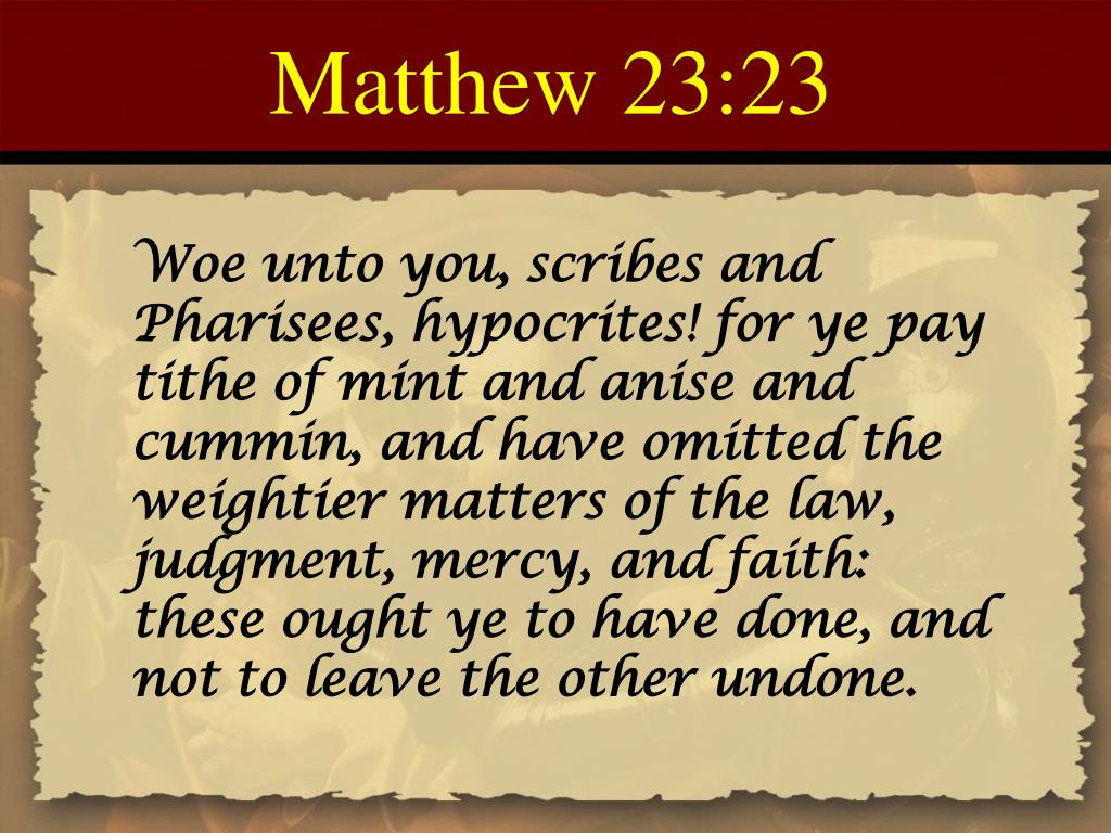 Matthew 23:23